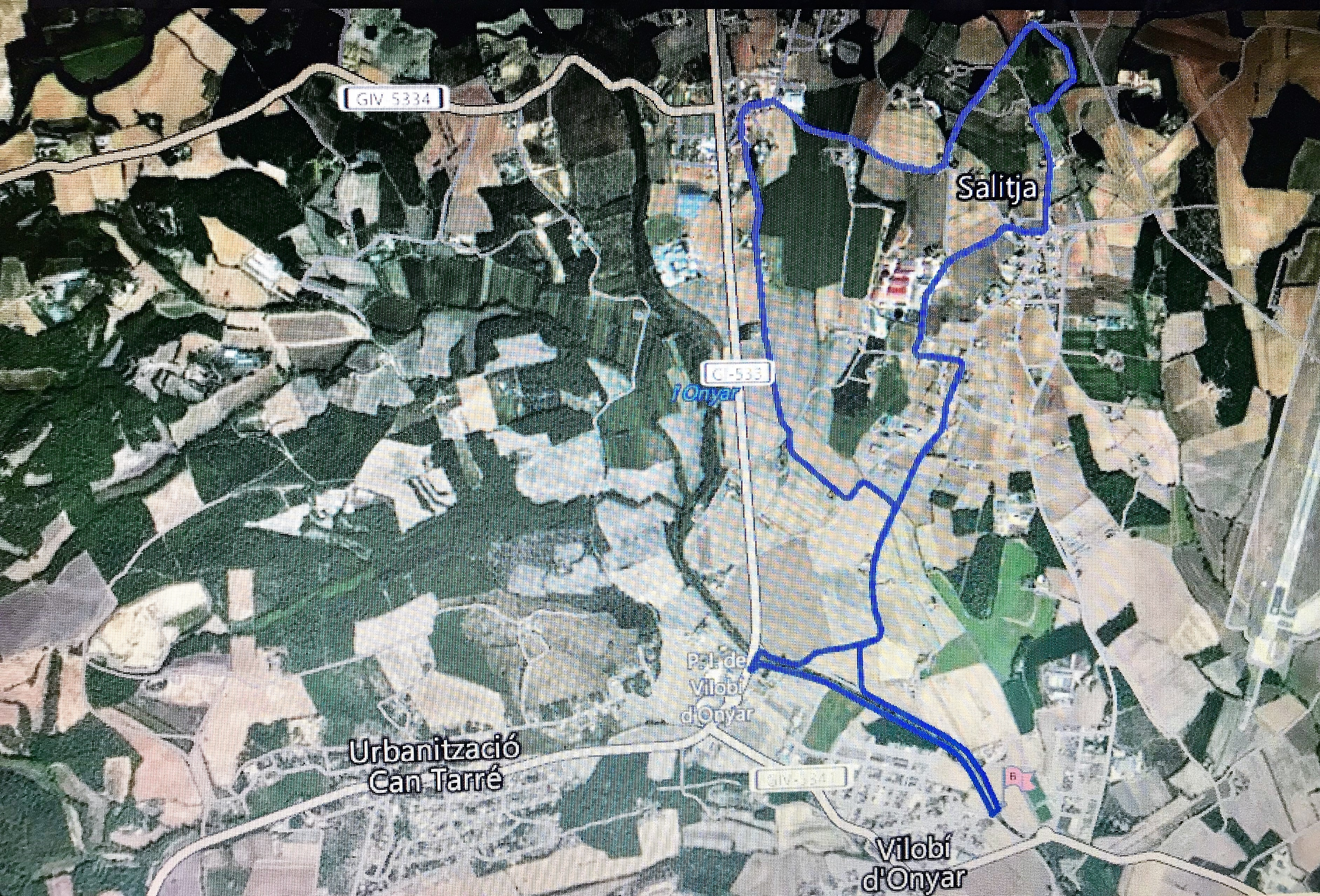 Ruta de 9 km de la marxa Vilobí d'Onyar