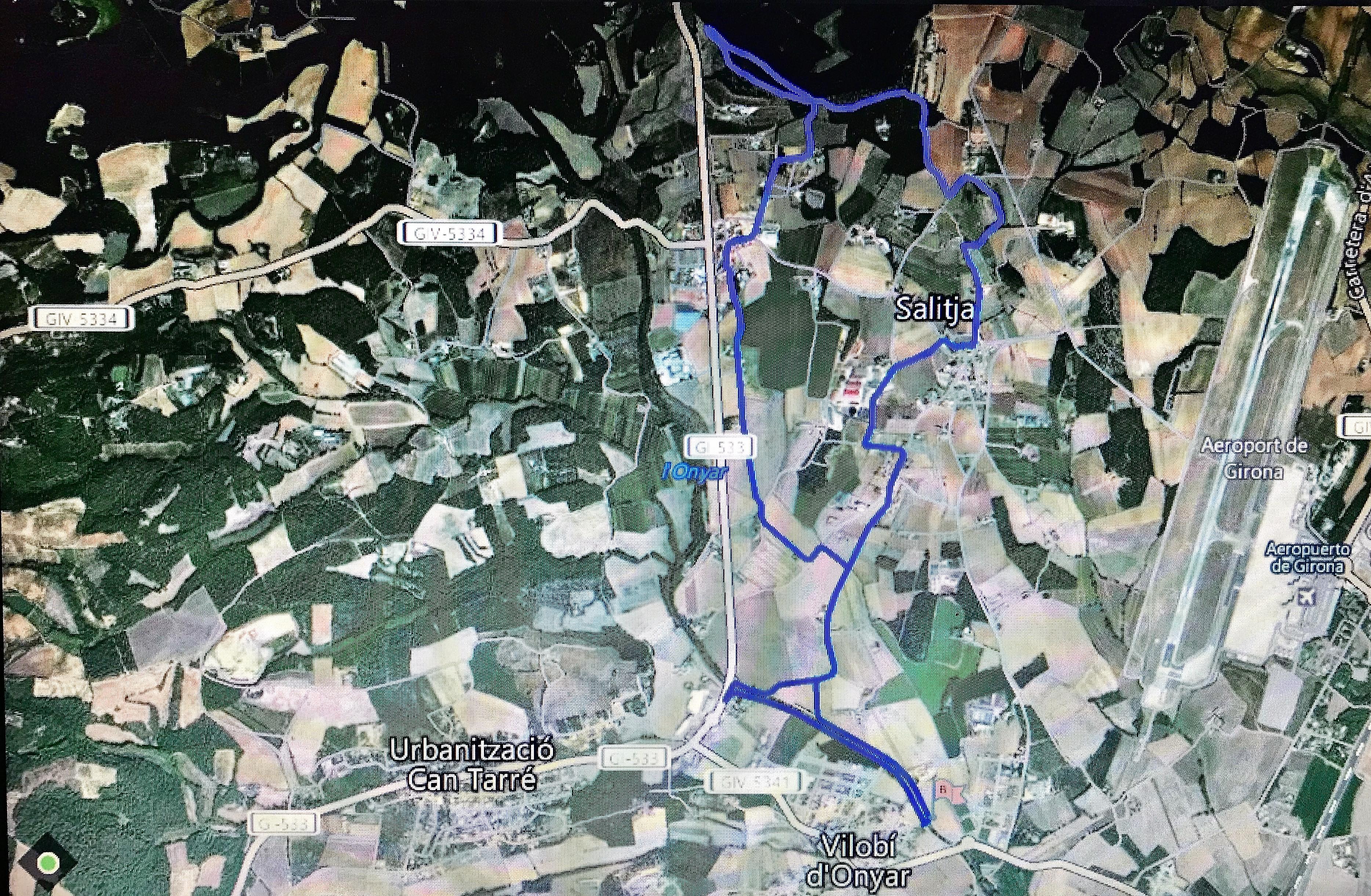 Ruta de 12 km de la marxa Vilobí d'Onyar